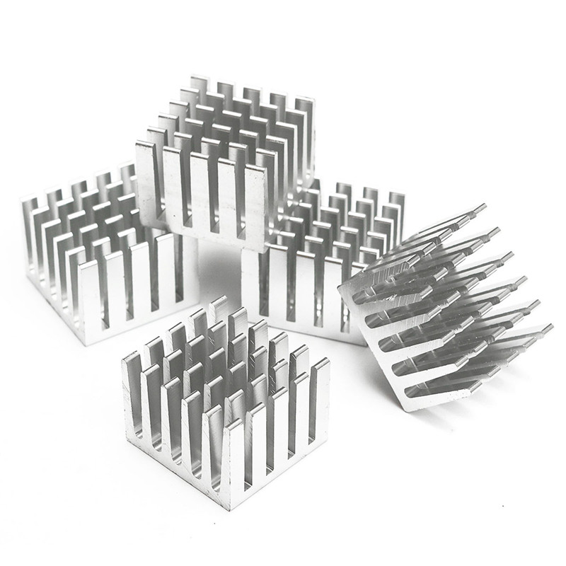5Pcs DIY CPU GPU IC Chip Aluminum Heat Sink 20x20x15mm Extruded Cooler Heatsink Cooling Fin Fan Silver Cooler Accessories special offer pure copper heatsink 40x40x10mm skiving fin diy heat sink radiator for electronic chip led ic cooling cooler