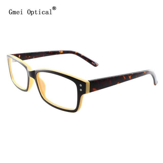 JiMei Vidrios Ópticos y Amarillo Leopard Anteojos Recetados Acetato del Lleno-Borde gafas de Montura de Gafas de Moda Óptica T8119