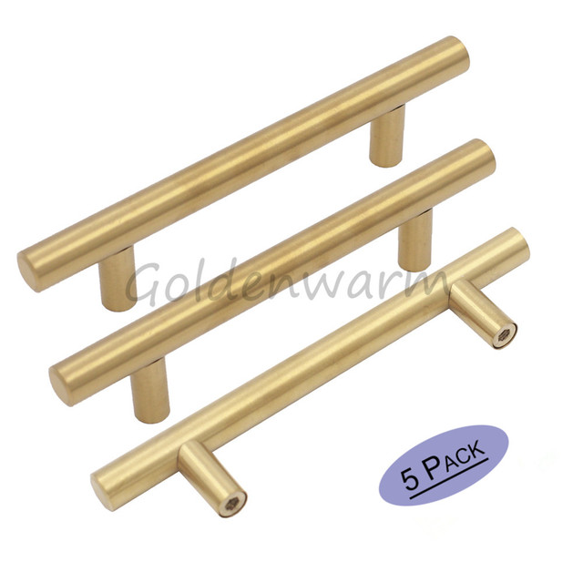 5 Paket Goldenen Schrank Griff 76 lochabstand Möbel Hardware T Bar ...