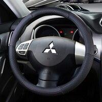 Top Layer Leather Wheel Steering Covers for Mitsubishi ASX RVR Outlander Sport Eclipse Cross Pajero Montero V75 V73 V77 V93 V97