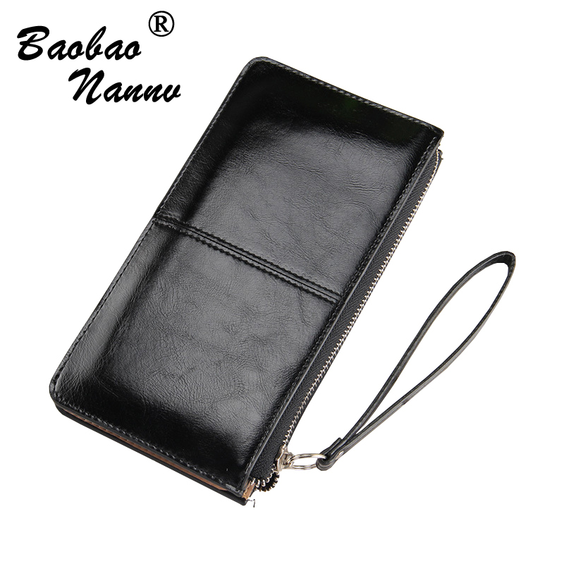 Women Wallets Candy Solid Color Oil Leather Wallet Fashion Long Clutch Casual Lady Cash Purse Women Hand Bag Carteira Feminina