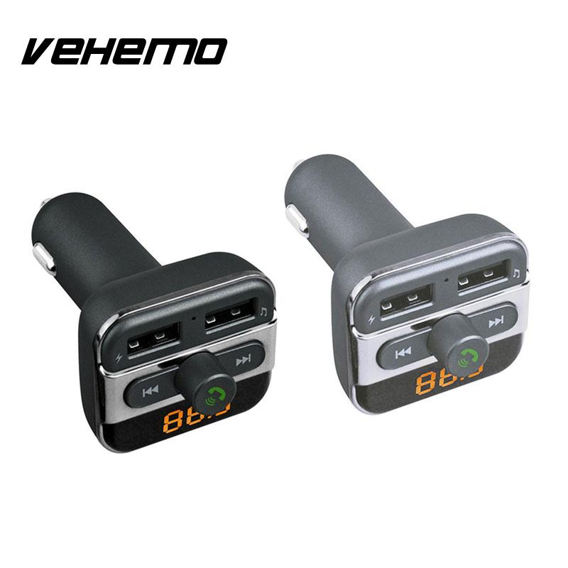Port Charger Adapter With Digital Display: 12 24V Dual USB Port Bluetooth Handsfree Cars Charger