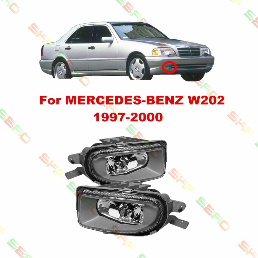 Для Мерседес-Benz Тип W202 1997-2000 стайлинга автомобилей противотуманные фары противотуманные фары 1 комплект стекло