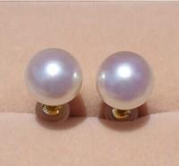 925 Silver Real Natural Big Super Large Akoya Sea Pearl Earrings Earrings Super Gloss Sea Pearl