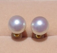 925 silver real natural big Super large Akoya sea pearl earrings earrings super gloss sea pearl bag mail send my mother a specia