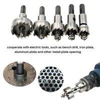 5PCS HSS Drill Bits Set Power Tools Hole Saw Cutter High Speed Steel Drill Bit Saw