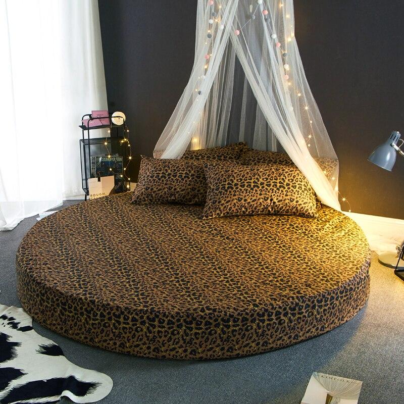 Léopard imprimé couverture matelas protecteur 100% coton nouvelle offre spéciale lit de mariage couvre-matelas pour lit