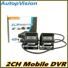 2Ch Mini Vehicle Car Video Recorder Car/Bus Mobile Car Video DVR I/O Alarm Motion Detect Black In Stock Max Upto 128GB SD Card