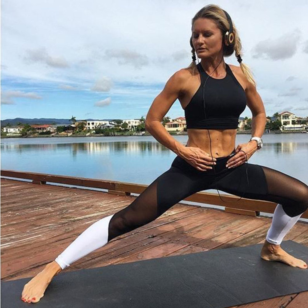 Womail Brand High Quality Yoga leggings Women Sports Gym Yoga Workout High Waist Running Pants Fitness Elastic Leggings