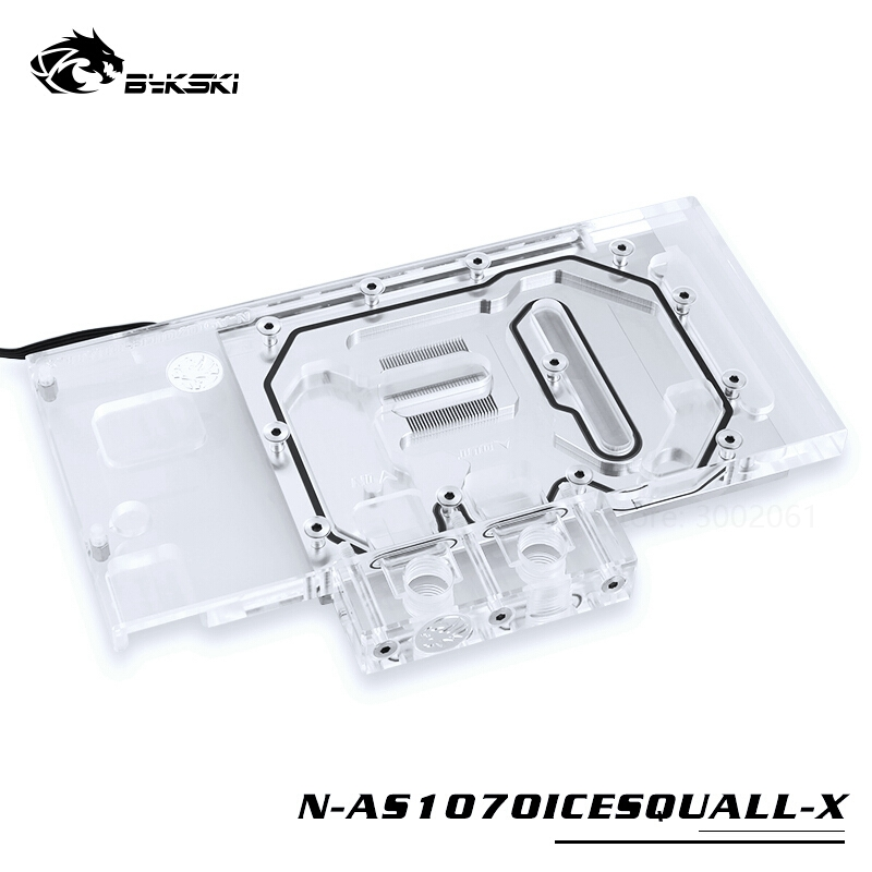 Image 3 - BYKSKI Water Block use for ASUS GTX1070 O8G SI/GAMING /GTX 1060 Dual RGB Light/Full Cover Graphics Card Copper Radiator Block-in Fans & Cooling from Computer & Office