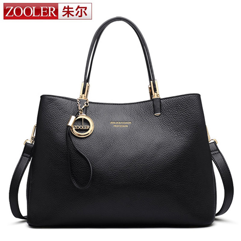 ZOOLER Real Cow Leather Ladies HandBags Women Genuine Leather bags Totes Messenger Bags Hign Quality Designer Luxury Brand Bag real cow leather lady handbags women genuine leather bags totes messenger bags hign quality designer luxury brand bag sac a main