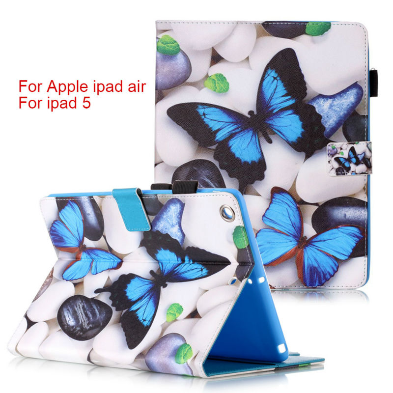 Fashion Magnetic stand pu leather cover case For Apple iPad Air for Pad 5 9.7 inch funda Tablet cases + film+ stylus pen