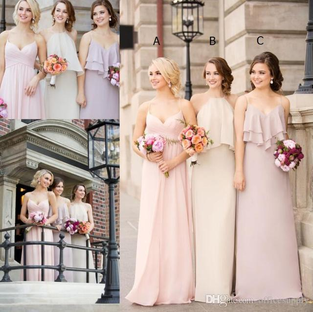 676f41666e US $119.99 |Cheap Hot Selling 2017 Boho Chiffon Bridesmaid Dress Mixed  Style Floor Length Beach Wedding Party Maid Of Honor Gowns-in Bridesmaid ...