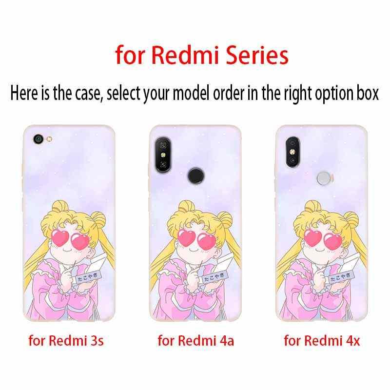 С рисунком из аниме «Сейлор Мун» lune реальная чехол с изображением котов чехол для телефона из мягкого силикона ТПУ с рисунком чехол для Xiaomi Redmi 3 4X 4a 5 плюс 5a S2 6a 6 Pro Note 7 5 6 4 3 5a