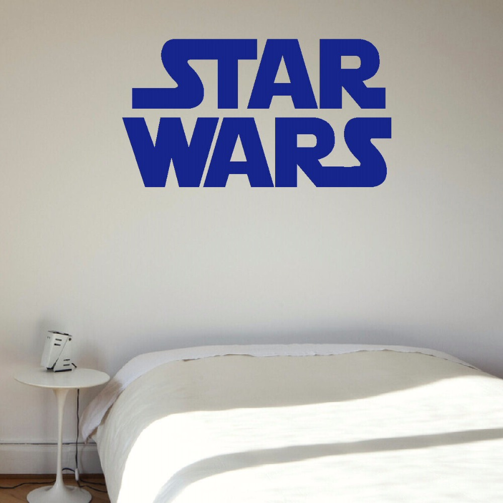 LARGE STAR WARS STARWARS LOGO CHILDRENS BEDROOM WALL MURAL STICKER ART SELF ADHESIVE PVC VINYL TRANSFER