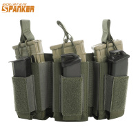 EXCELLENT ELITE SPANKER Tactical Molle Triple Magazine Pouches Military AK M4 Pistol Clip Bag Paintball Game Accessories