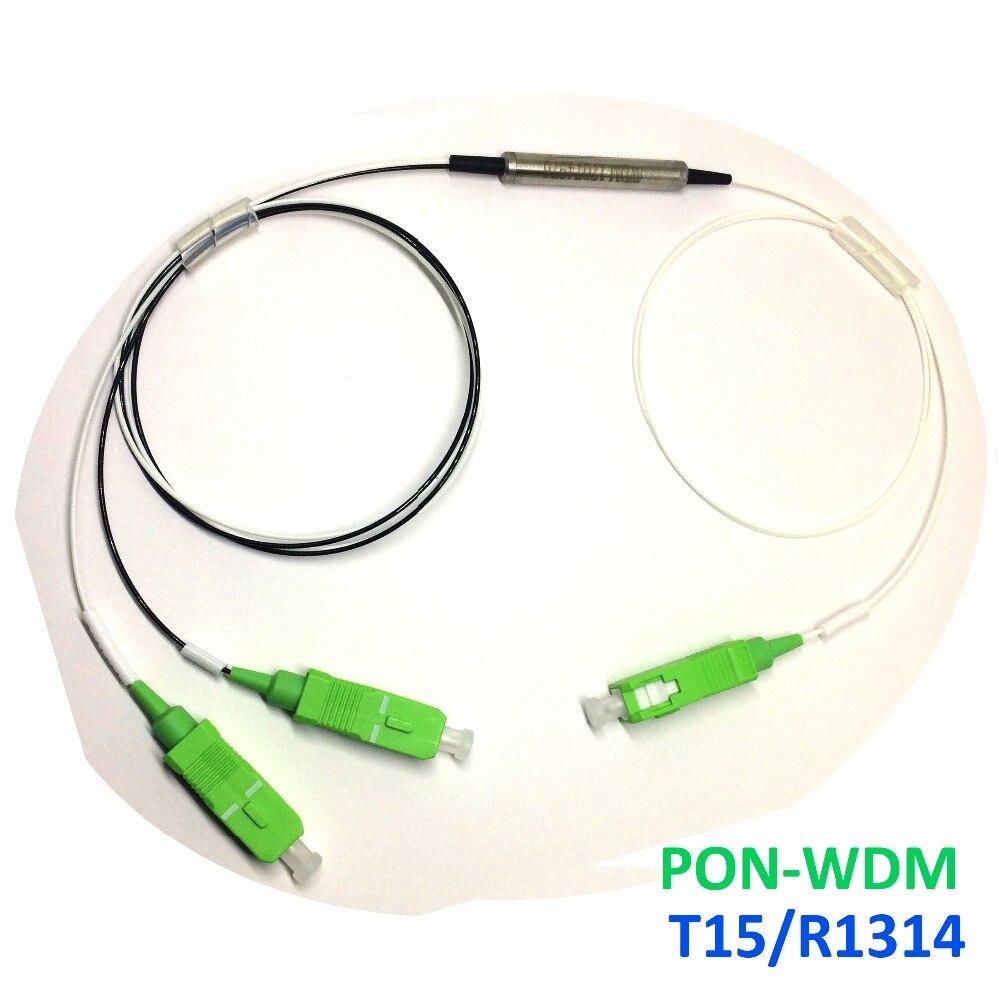 Купить с кэшбэком 2pcs CATV FWDM5/34- T1530~1620/R1260~1360&1480~1500 -SUS-G657A-0.5m Passive Device