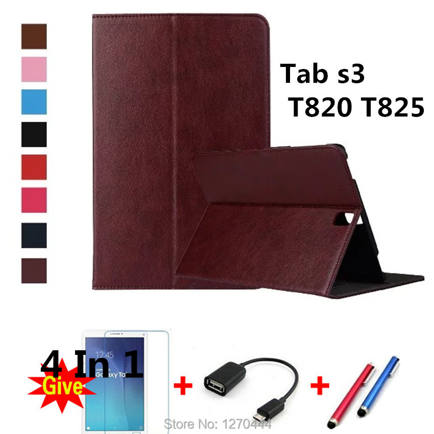 Official Original leather cover For Samsung Galaxy Tab S3 T820 T825 9.7 Cases Smart Cover for Samsung T820 Sm-T820 fundas tablet
