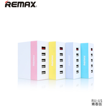 Remax Quick Charge Current 5.2A 5 Port USB Charger Wall Charging EU US Plug for iPhone & Android Mobile Phone Desktop Charger