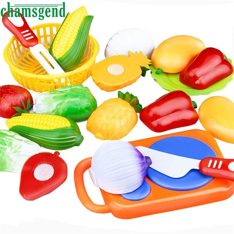 chamsgend nuevo unids plstico nios nios utensilios de cocina comida juego de imaginacin set