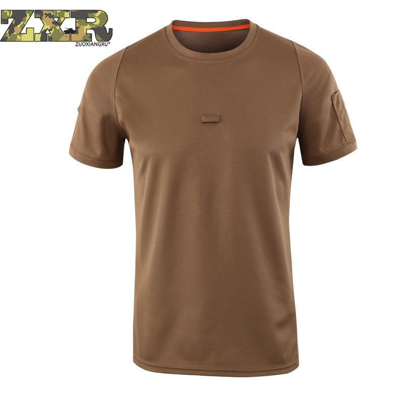 ebe62333686 Летний Новый Стиль Тактические Военные мужские рубашки дропшиппинг дышащие  быстросохнущие камуфляжные повседневные тактические футболки