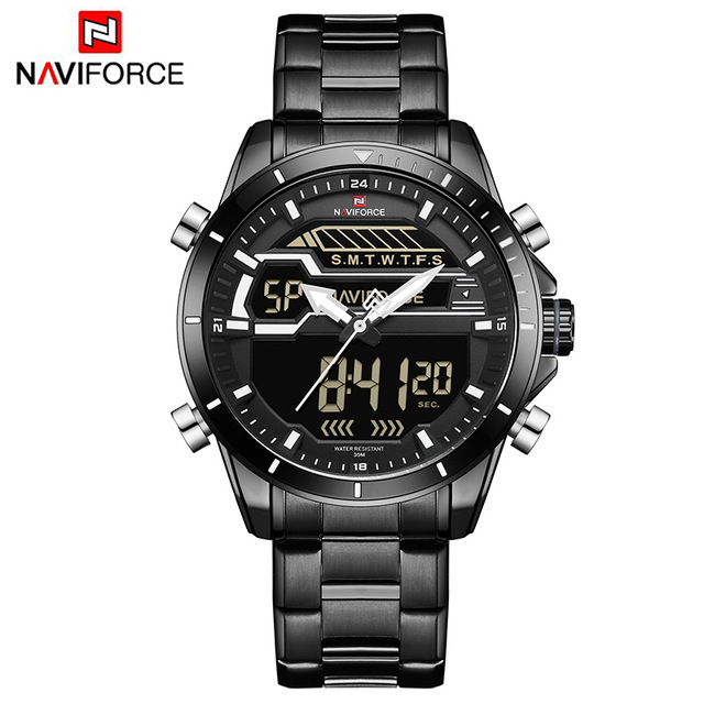 Relogio Masculino Mens Watches NAVIFORCE Luxury Top Brand Men Waterproof Sport Watch Men's Quartz Digital Clock Man Wrist Watch | Fotoflaco.net
