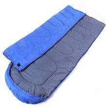 Blue Sleeping Bags Envelope Type Spring Summer Camping Bag Outdoor Equipment Single Adult Cotton Down Ultralight Sleeping Bags