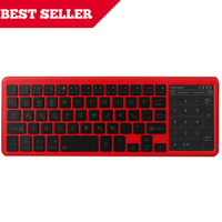 2 4G Wireless Keyboard With Touchpad Built In Battery Charging Russian Arabic Hebrew Keyboard For Mac