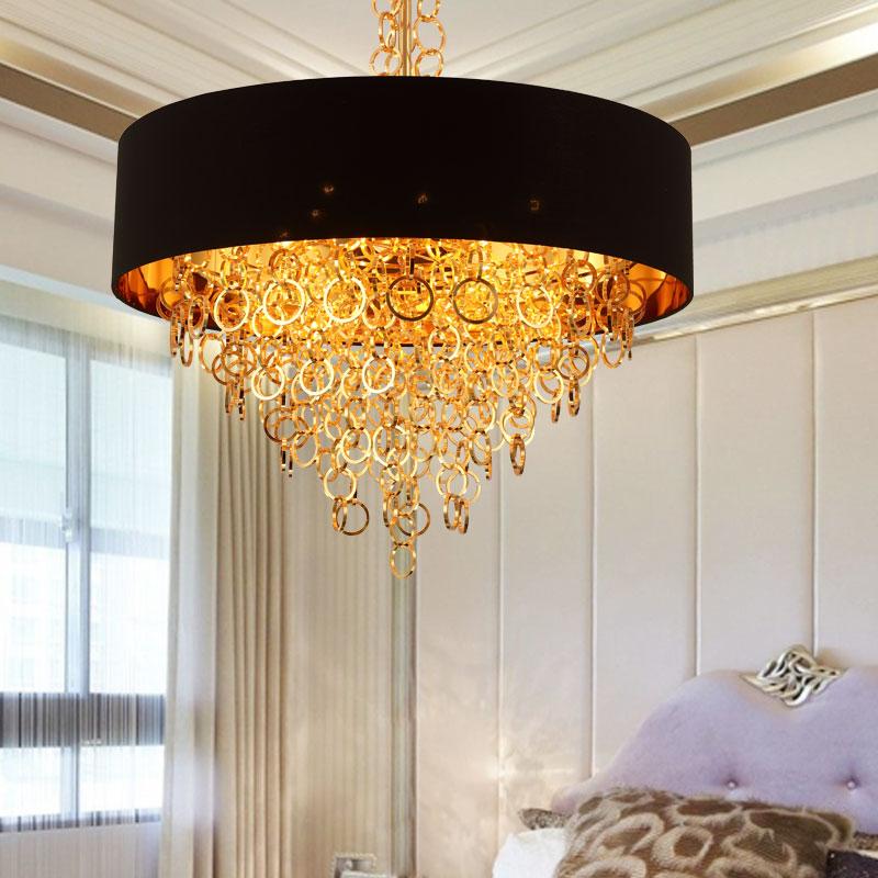Nordic LED Pendant Light Black Lampshade Hanging Lamp Drop Pendant Lamp For Kicthen Living Room Bedroom Fixture Lighting