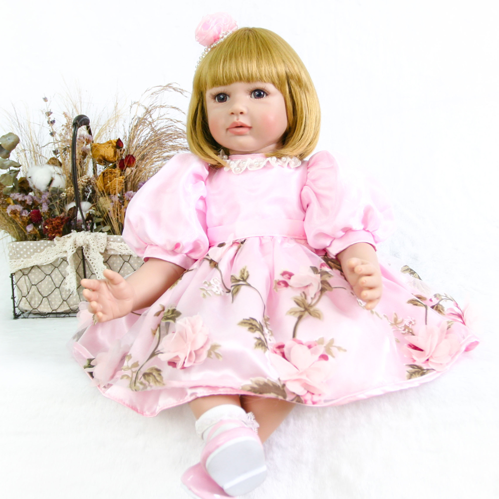 Limited Collection 24 Inch Reborn Doll Girl 60 cm Silicone Soft Vinyl Realistic Baby Dolls Kid  Christmas Gifts Bebes rebornLimited Collection 24 Inch Reborn Doll Girl 60 cm Silicone Soft Vinyl Realistic Baby Dolls Kid  Christmas Gifts Bebes reborn