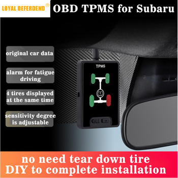 XV Outback Forester OBD TPMS tire pressure monitoring system real-time intelligent monitoring OBD sensor free security alarm