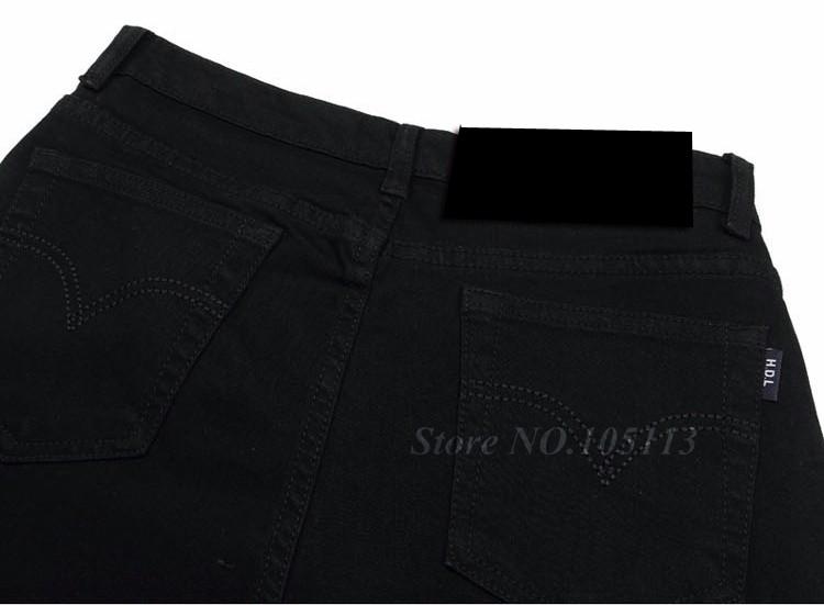 Fashion Winter Warm Mens Black Thicken Velvet Boot Cuts Casual Jeans Men Skinny Flared Jeans Bell Bottom Fleece Jeans 3Xl 4Xl 36 11