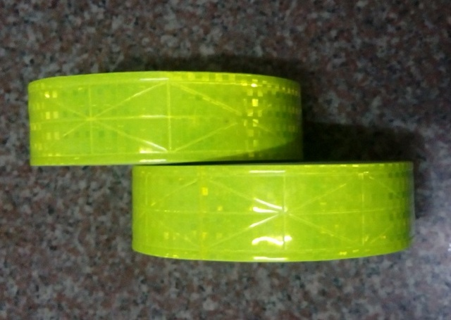 Night Dark Reflective  Waterproof PVC Tape Warning Sasfey Material