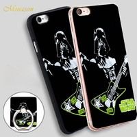 Minason Star Wars Darth Vader play Heavy Metal Soft TPU Silicone Phone Case Cover for iPhone X 8 5 SE 5S 6 6S 7 Plus