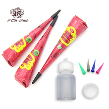 3pcs GOLECHA Red Colored Henna Tattoo Paste Cones,Mehndi Henna Nozzle Applicator Drawing Bottle For Hand Paste Cream Paint 25g