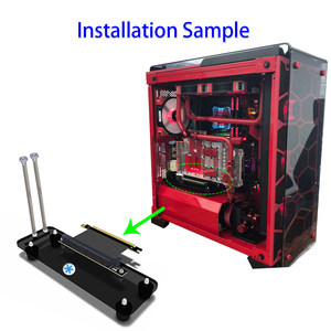 Image 5 - Graphics Cards Stand DIY ATX Case PCI E External Built in Kickstand Mounting Bracket for PCIE x1 x4 x16 Riser Cable R L Version