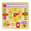 1 Pc Multifunctional Cartoon Wooden Clock Toy Cognitive Calendar Season Date Children Educational Toy Early Learning