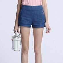 2017 летние шорты женщин случайные простые джинсы женщина джинсовые шорты высокой талией джинсы вышитые женская одежда