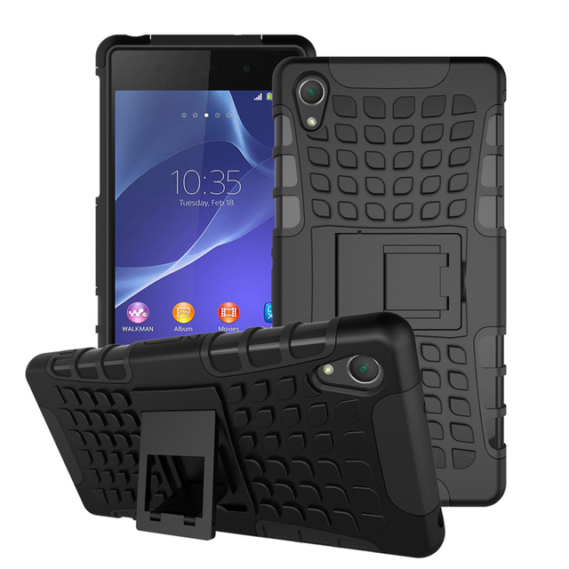 For Sony Xperia Z2 Case Heavy Duty Armor Shockproof Hybrid Hard Silicone Rubber Phone Case for Sony Z2 Cover L50 D6503 D6502