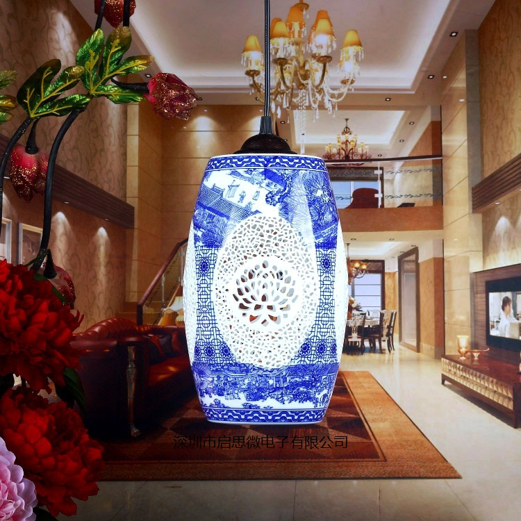 E27 Chinese Pendant lamp for Kitchen Dining Room Living Room Suspension luminaire Hanging Ceramic Bedroom Chandeliers Fixtures 110v 240v e27 garden style children chandeliers bedroom suspension luminaire
