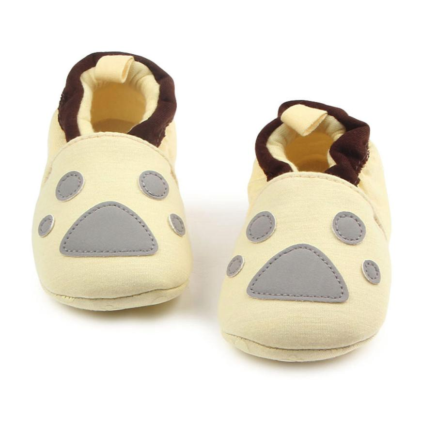 4 Lovely cartoon Newborn Baby Girls Shoe First Walkers Soft Soled Infant Toddler Kids Unisex Flats Soft Slippers Shoes 17De7