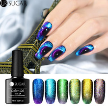 UR SUGAR 7.5ml 9D Cat Eye Nail Gel Polish Chameleon Magnetic UV Varnish Purple Blue Soak Off LED Art Lacquer DIY