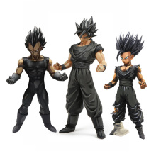 dragon ball z super saiyan son goku vegeta gohan msp master stars piece goku black chocolate PVC action figure toy цена