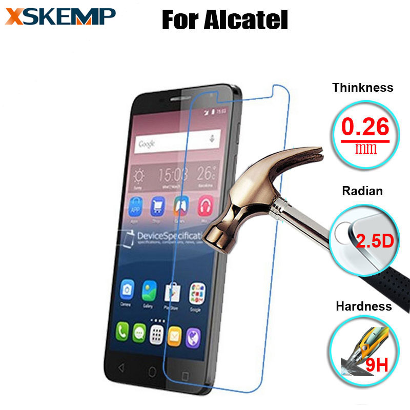 Toughened Tempered Glass Screen Protector For Alcatel One Touch Go Play <font><b>7048X</b></font> POP4 4S 4Plus Pixi 4 3.5