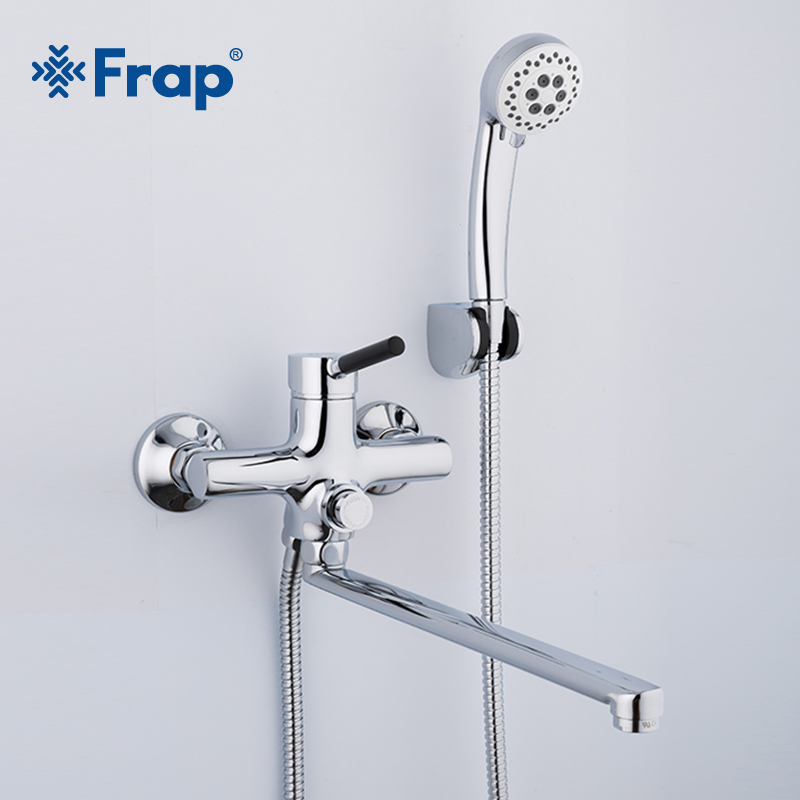 Frap Classic Bath Bathtub Faucets Long Trunk Bathroom Bathtub Mixer Hot and Cold Water Wall Mounted Shower Faucet F2244 frap classic shower faucet long trunk bathroom bathtub mixer hot and cold water dual control f2227d