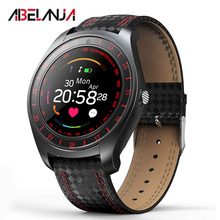 Smart Watch Men V10 with Camera Bluetooth fitness band Pedometer Heart Rate Monitor support SIM TF Wristwatch for Android Phone