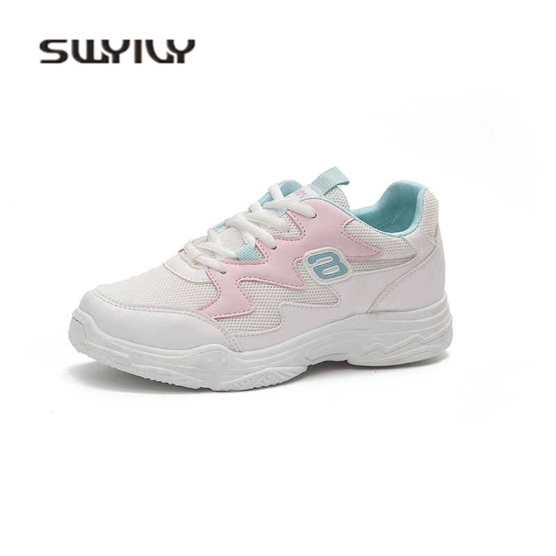 SWYIVY Sneakers Shoes Female Wedge 2018 Woman Leisure Shoes Mesh Breathable Summer Sneakers Shoes Female Woman Casual Shoes 40 swyivy women sports shoes anti slip thick sole running shoes 2018 summer mesh breathable lace up female sneakers comfortable