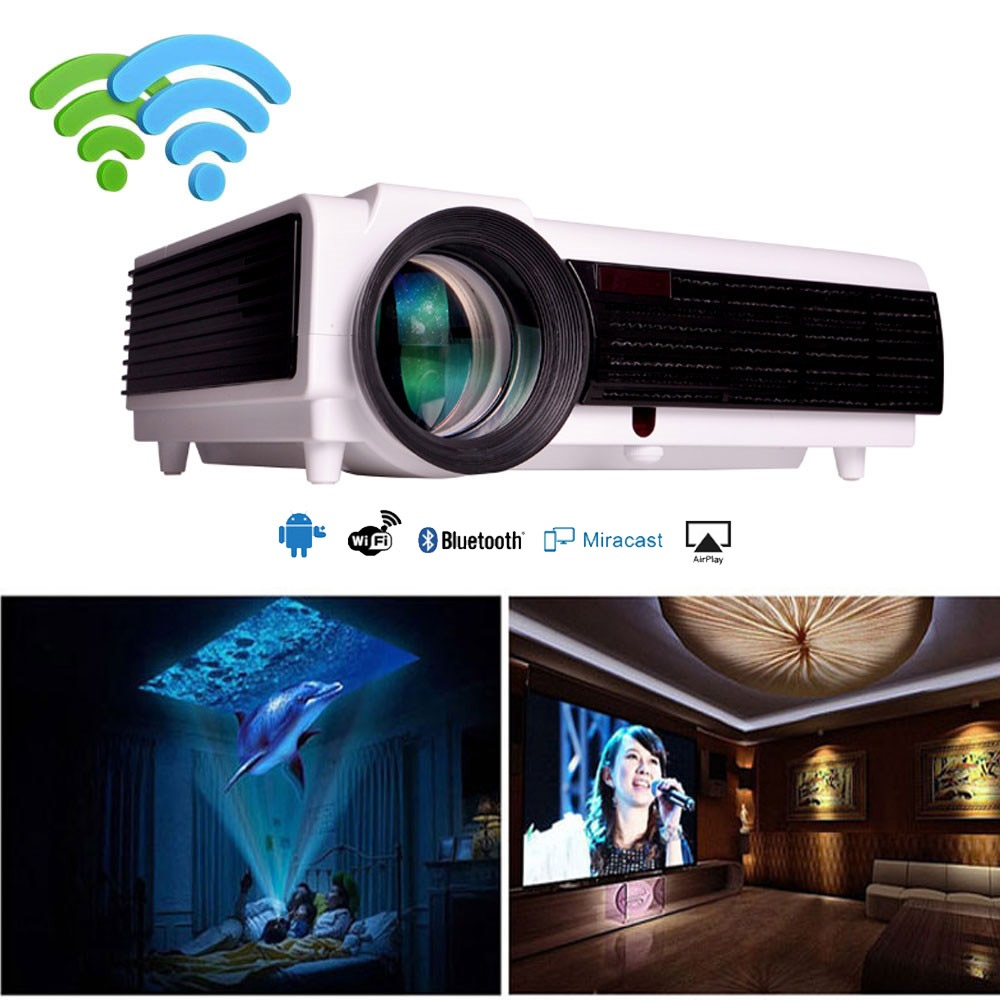 2018 New Home Projectors Theater Lcd 1080p Hd Multimedia: Aliexpress.com : Buy 2018 LED96+Wifi Android Projector