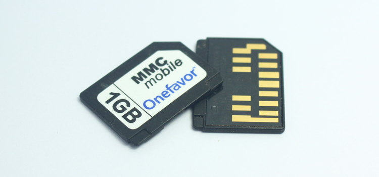 Image 2 - 13Pins onefavor 128MB 256MB 512MB 1GB 2GB RS MMC Card Mobile Multimedia Card RS MMC dual voltage MMC Card With Free Adapter-in Memory Cards from Computer & Office