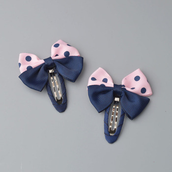 YYXUAN 2 pieces Girl Boutique Hair Bows Barrettes Clips For Kids Toddlers Girls Printing Bow Hairgrips 5